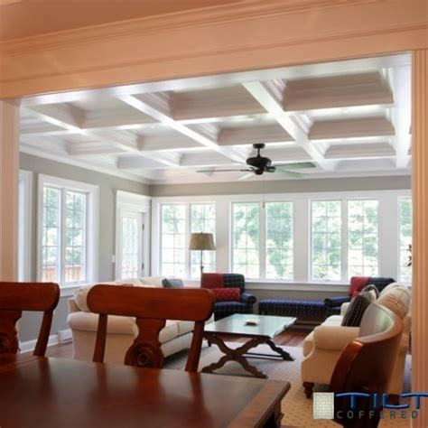 decorations wonderful tilton coffered ceiling  elegant