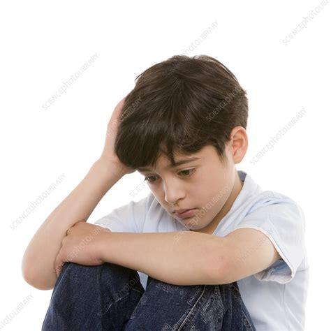 Depressed Boy Stock Image F0027769 Science Photo