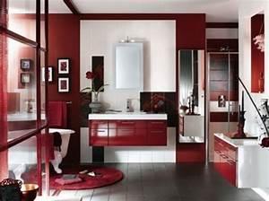 Deco Salle De Bain Gris : d coration salle de bain rouge et gris avertissements pour la r ussir ~ Farleysfitness.com Idées de Décoration