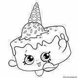 Coloring Ice Cream Shopkins Shopkin Printable Disney Birthday Season Adults sketch template