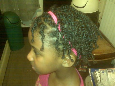 Side Cornrows With Two Strand Twists