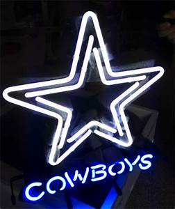 Wiki Neon Sign Blog NFL DALLAS COWBOYS FOOTBALL BEER NEON