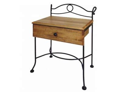 table de nuit modena bois lits romantiques iron
