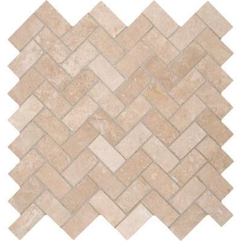 herringbone travertine tile tuscany ivory herringbone honed travertine mosaic tile