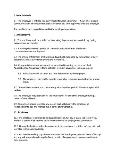 Employee contract template in Word and Pdf formats - page 5 of 12