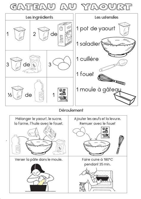 cuisine végé fiche recette du gâteau au yaourt maternelle dans ma