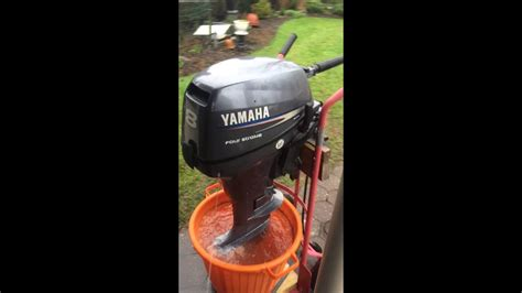 Buitenboordmotor Olie 4 Takt by Yamaha 8 Pk 4 Takt Buitenboordmotor 2007 Youtube