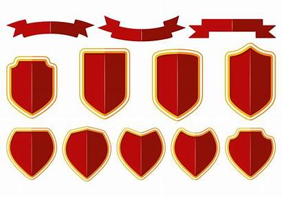 Shield Vector Ribbon Blason Vectors Badge Graphic