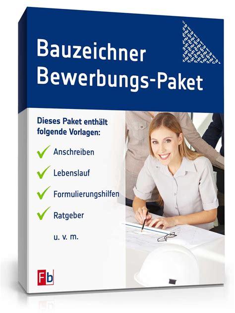 bewerbungs paket bauzeichner muster zum