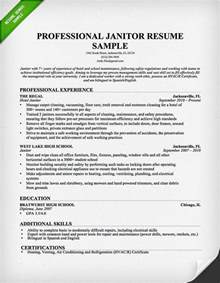 resume for school custodian position professional janitor resume sle resume genius