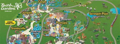 Busch Gardens Ta Directions by Busch Gardens Williamsburg Park Map 2018 Garden And