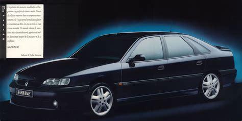 old renault 1993 renault safrane bi turbo brochure