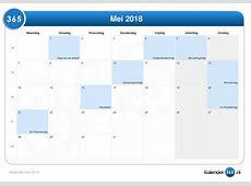 Kalender mei 2018