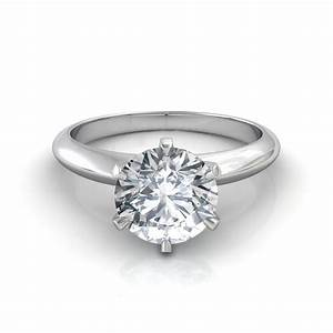 round brilliant cut solitaire engagement ring With wedding rings round diamond