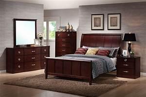 Baxton Studio Argonne Queen Size 5 Piece Modern Bedroom