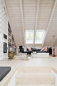 Wohnzimmer Mit Dachschräge : wohnzimmer unter der dachschr ge ~ Lizthompson.info Haus und Dekorationen