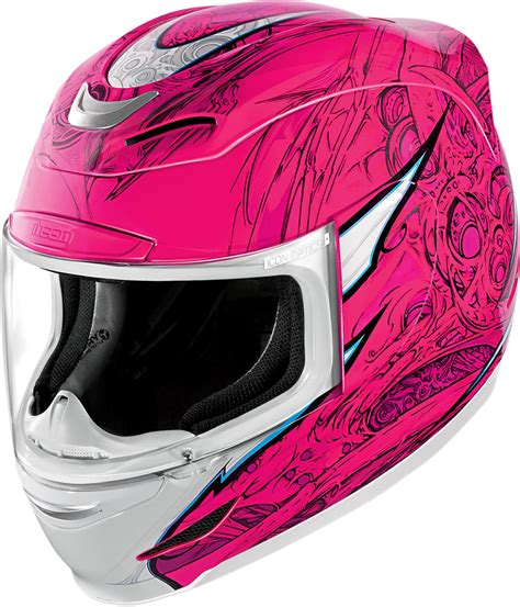 icon airmada sportbike sb full face motorcycle helmet pink