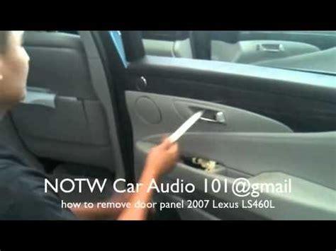 How To Remove 2007 Lexus Ls460l Door Panel Youtube