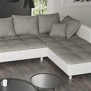 Garnitur U Form : sofa vivara wei grau ecksofa von jalano wohnlandschaft u form couch garnitur ebay ~ Indierocktalk.com Haus und Dekorationen