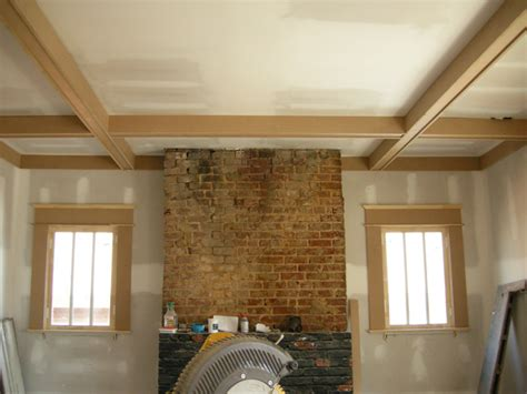 Shaker Style Bookcase by Coffered Ceiling Ontario Park Bungalow Blog