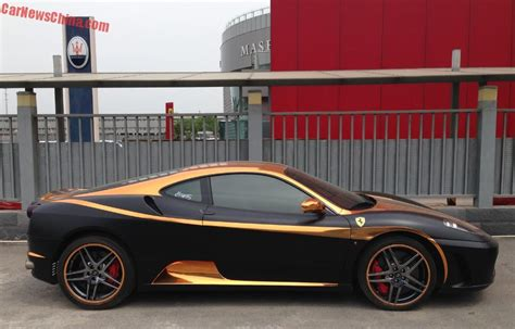 Ferrari claims the driving position is half way between that of a normal sports car and a formula 1 car, with the driver's backside sitting at broadly. Ferrari F430 is matte black & gold in China - CarNewsChina.com
