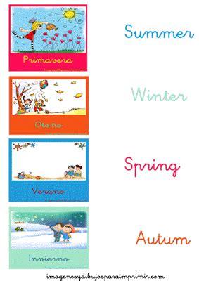 Las estaciones del año en Inglés para aprender Imagenes y