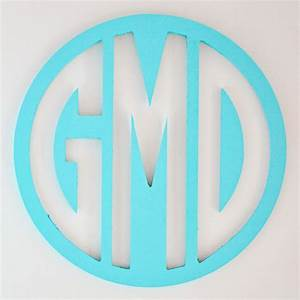 wood circle wall monogram rosenberryroomscom With circle monogram