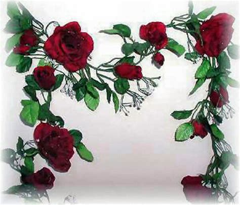 Burgundy Wine Rose Garland ~ Silk Wedding Flowers Arch