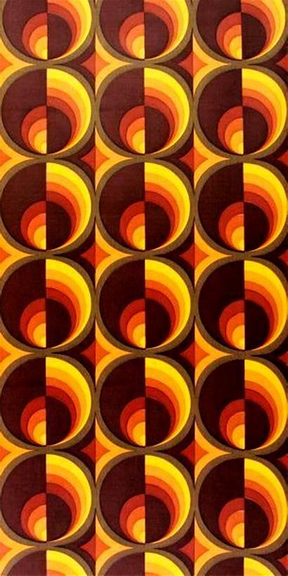 Aesthetic 70s 70er Retro Tapeten Tapete Orange