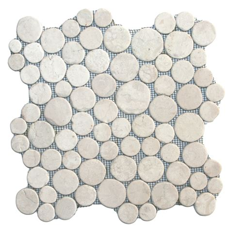 pebble mosaic tile white moon mosaic tile pebble tile shop