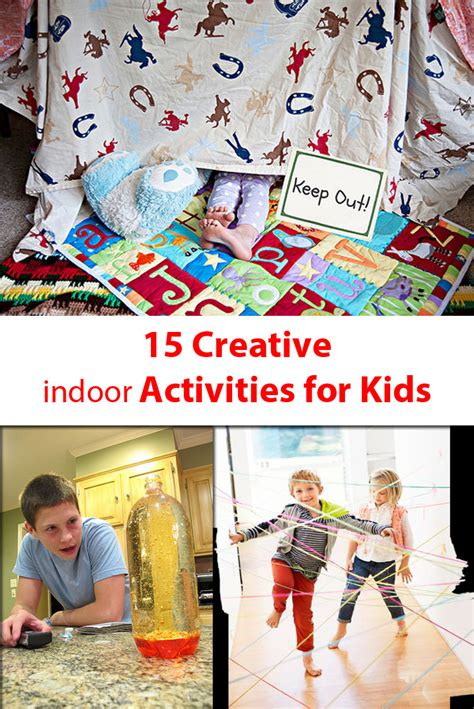 15 Creative Indoor Activities For Kids  Kids Activity Ideas