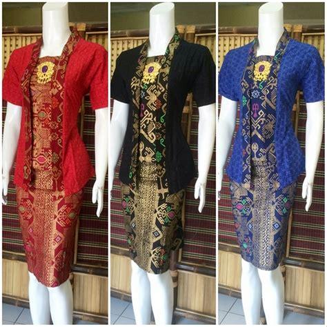jual dress batik pendek modern setelan atasbawah model