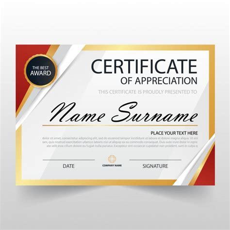 modern certificate  appreciation template vector