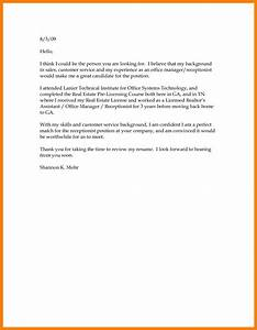 Basic Cover Letter Structure Good Resume Format