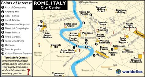 rome italy map  map  rome information page