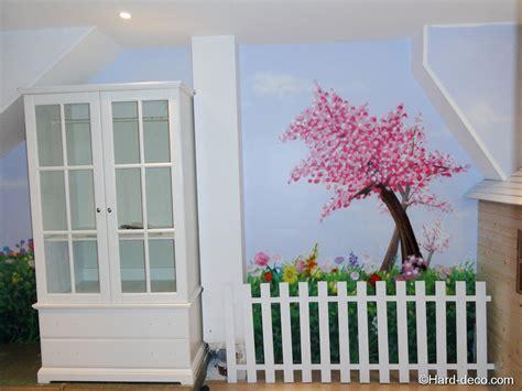 decoration murale pour chambre chambre nature cerisier japonais deco