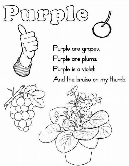 Coloring Purple Worksheet Toddlers Worksheets Printable Preschool