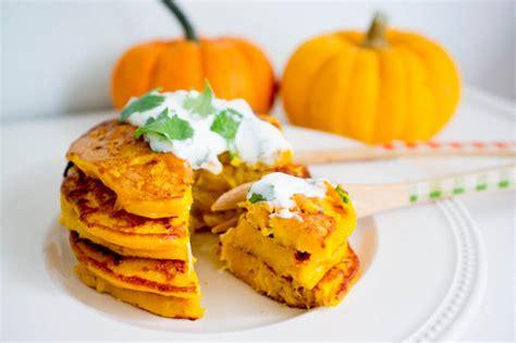 cuisiner le potimarron au four godiche pancakes salés au potiron et coriandre godiche