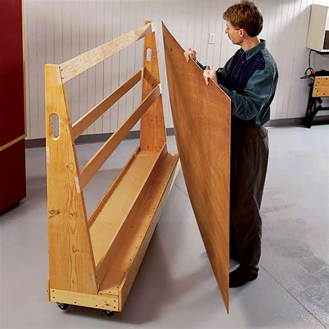 roll  plywood cart woodworking plan  wood magazine