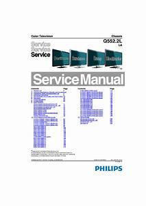 Philips Chassis Q552 2lla 40pfl7606d 312278519115 Service