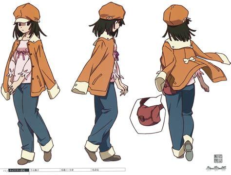 Bakemonogatari Character Designs Of Nadeko Sengoku By