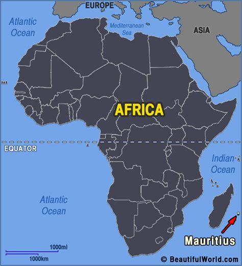 Mauritius Karte Afrika