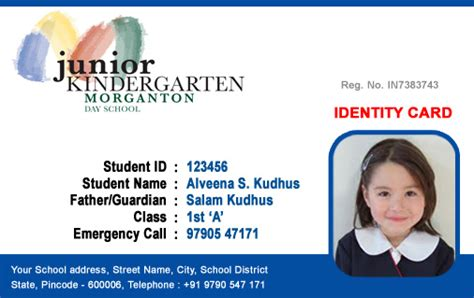 id cards student id card  template