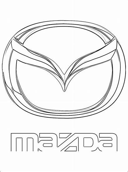 Mazda Coloring Logos Kleurplaten Coloriage Kolorowanki Kleurplaat