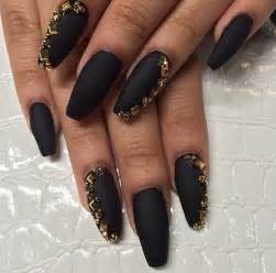Black and gold acrylic nail art awesome easy