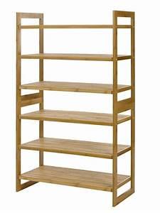 100% Natural Bamboo 6-Tier Shoe Rack Entryway Shoe Shelf