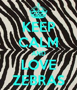 KEEP CALM AND LOVE ZEBRAS Poster | rach | Keep Calm-o-Matic