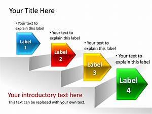 Powerpoint Slide - Step Diagram - 3d - 4 Step