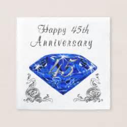 45 wedding anniversary 45th wedding anniversary napkins zazzle canada