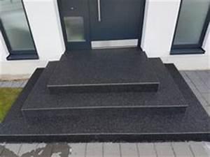 Steinteppich Treppe Außen : details zu treppe aussen haus eingang podest naturstein granit beton stufe setz schwarz haus ~ Sanjose-hotels-ca.com Haus und Dekorationen